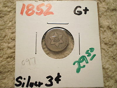 1852 Three Cent Silver Piece