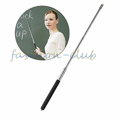 1PC Steel Extending Teaching Tool Retractable Classroom Whiteboard Pointer Stick