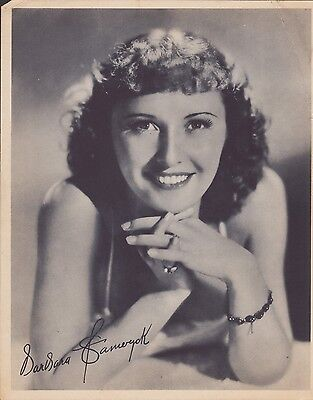 """Barbara Stanwyck 8x10"""" Red Crown Gasoline rare 1940 giveaway - free shipping"""