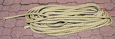 """Vintage HEMP Barn ROPE Nautical Pulley Trolley 3/4"""" about 110' Very clean! *****"""