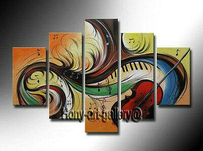 Large Framed Canvas Modern Art Wall Music Abstract OIL Painting Home Decor mus12