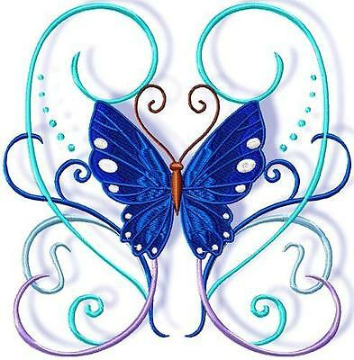 Ribbon Butterflies 10  Machine Embroidery Designs Cd 4 Sizes