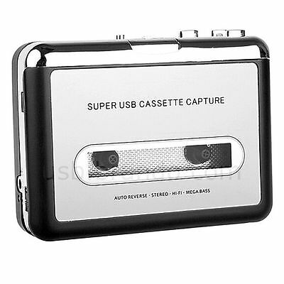Portable Tape To PC Super USB Cassette-To-MP3 Converter Capture Music Player