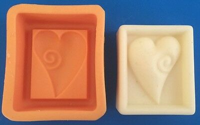 HEART (Rectangle) Silicone Soap Moulds - Make ur own soap!