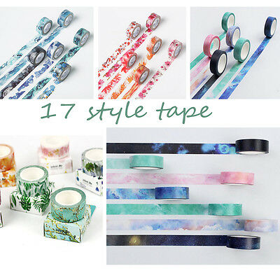 Galaxy Washi Paper Sticky Masking Tape Scrapbooking Masking Craft Tape Decor DIY