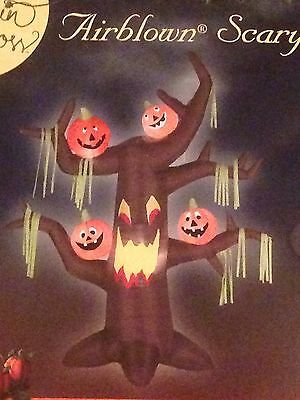 New Gemmy Halloween 7' Airblown/Inflatable Lighted Tree With Pumpkins  Decor