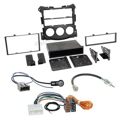 Nissan 370Z AB 09 1-Din Car Radio Installation Set + Cable, Adapter, FACEPLATE