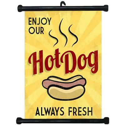sp217101 Hot Dog Wall Scroll Poster For Shop Decor Display