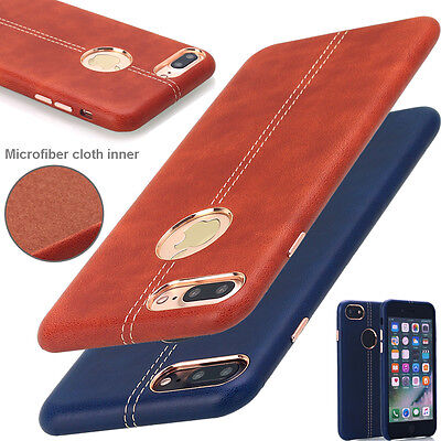 For Apple iPhone 7 / 7 Plus Luxury Leather Ultra Thin Shockproof Hard Case Cover