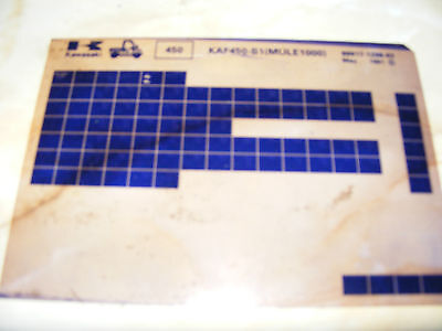 Kawasaki  Kaf450-B1  Parts Catalogue 1991   (Microfiche)