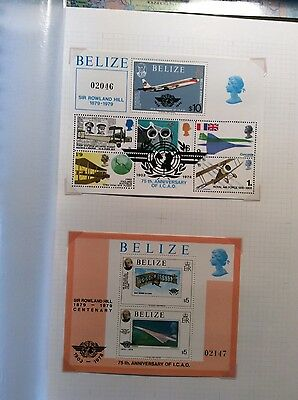 Stamps Belize 1979. 75 Aniv. of ICAO,  & Sir Rowland Hill Centenary