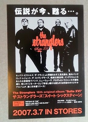 STRANGLERS 'Suite XVI' 2007 Japanese Flyer / mini Poster 6x4 inches