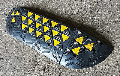 Heavy Duty Rubber Speed Bump, Hump, Door Ramp (10Cm) 5 Mph Car Park, Events