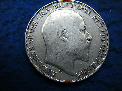 King Edward Vii: 1902 Silver Crown In Good Condition - Scarce Coin