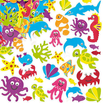 Super Sealife Foam Stickers for Kid's Crafts & Card Making (Pack of 108)