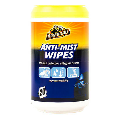 Armorall Anti Mist Wipes Protection Glass Windscreen Cleaner Improves Visbility