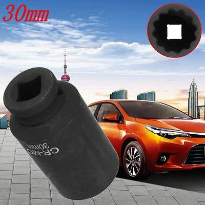 """1Pc 30MM 1/2"""" Drive 12 Point Spindle Axle Nut Socket For Toyota Lexus"""