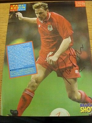 90-2000's Autographed Magazine Picture A4: Wales - Bodin, Paul. We try and inspe