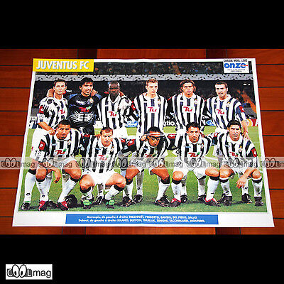 JUVENTUS FC EQUIPE / TEAM (2001) - Poster Football / Calcio #PM895