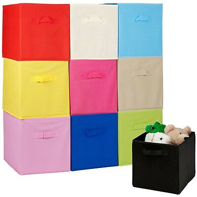 Collapsible Cube Storage Boxes Kids Toys Carry Handles Basket Bits Bobs Organise