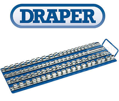 "DRAPER 1/4"" 3/8"" 1/2"" Sq Dr Socket Storage Rack/Rail/Tray/Hook/Holder/Clip 29760"