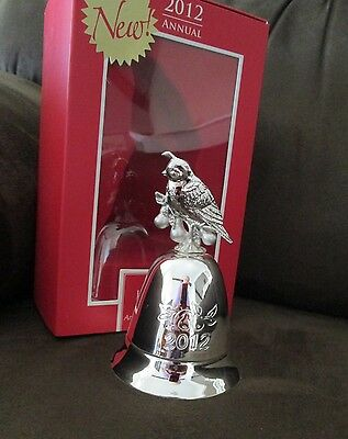 Lenox/Stieff $60 Musical 2012 Partridge in a Pear Tree Silverplated Bell NIB