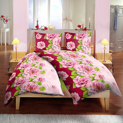 bettw sche mikrofaser babuna 6 teilig 135x200 cm rosa blumen eur 14 95 picclick de. Black Bedroom Furniture Sets. Home Design Ideas