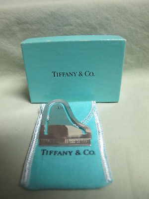 Tiffany & Co Sterling Silver Carnegie Hall 100 Years Piano Bookmark +Pouch & box