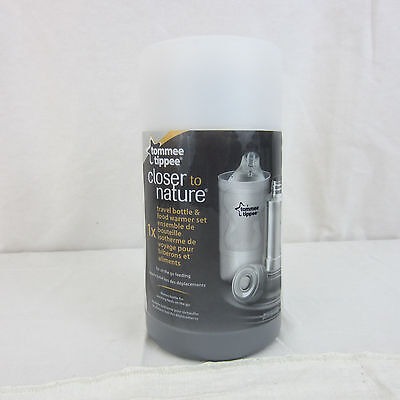 Tommee Tippee Closer To Nature Travel Bottle & Food Warmer Set NEW