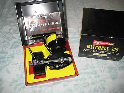 Mitchell Garcia 300 Vintage New In Box Spinning Fishing Reel Right-Hand #1582
