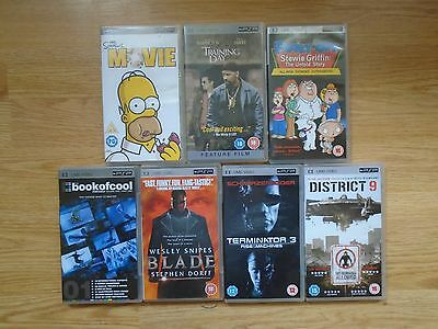Bundle Of 7 Sony Psp Umd Videos-Incl Simpsons/family Guy
