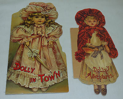 2 Vtg 1980s Victorian Children's Book Reprint Dolly in Town & Dolly's Adventures
