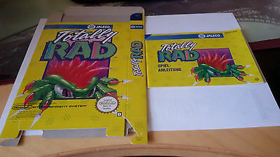 NES Totally Rad original Anleitung und Verpackung Instruction and Box
