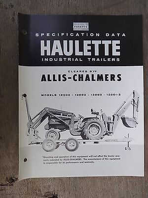 Vintage Fayette Haulette Industrial Trailers Catalog Cleared by Allis Chalmers