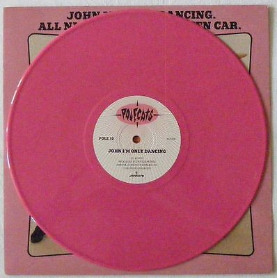 "THE POLECATS Very RARE UK PINK VINYL 10"" Single John I'm Only Dancing Disc=NearM"