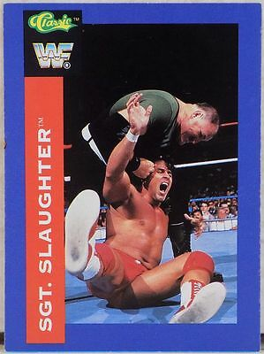 Wwf Sgt Slaughter Classic Superstars Trading Card 61 1991 Wrestling Wwe Wcw