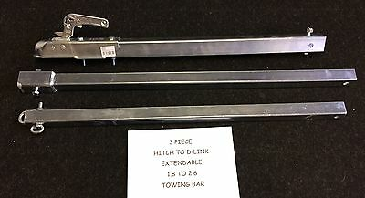 New 3.5 Ton Tow Bar Extendable 1.8M To 2.6M Pole Dolly A Frame Recovery 4X4 Van