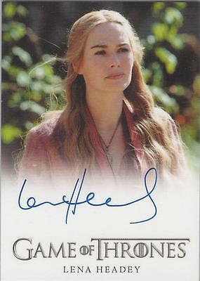 "Game of Thrones Season 2 - Lena Headey ""Cersei Lannister"" Autograph Card"