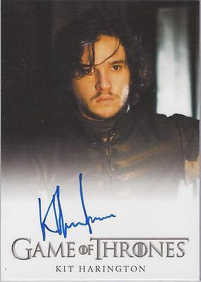 "Game of Thrones Season 2 - Kit Harington ""Jon Snow"" Autograph Card"