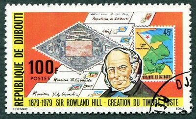 DJIBOUTI 1979 100f SG758 used NG Sir Rowland Hill Death Centenary a #W29