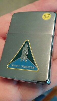 Zippo lighter new old stock 1980s NASA Space shuttle art new no box