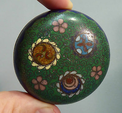 Japanese Antique Meiji Cloisonne Round Trinket / Paste Box - 19th century