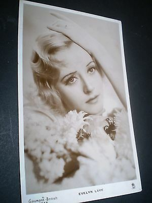 beautiful film actress EVELYN LAYE rp photo postcard