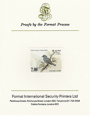 Sri Lanka 4262 - 1983 FLYCATCHER 2r imperf on Format International PROOF  CARD
