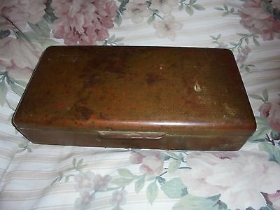 State Express Solid Brass Wood Lined Cigarette Tin Box holds 3 packs