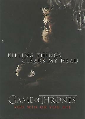 """Game of Thrones Season 1 - SP3 """"You Win or You Die"""" Chase Card"""