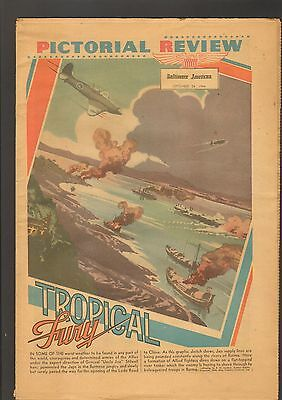 Pictorial Review Newspaper Baltimore American September 1944 WWII Tropical Fury