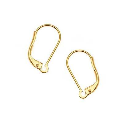 22K Gold Plated Earring Findings Leverback (5 Pairs)