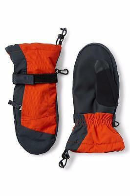 LANDS' END Boy's S Fresh Cayenne Waterproof Squall Mittens NWT