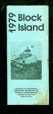1979 Block Island Interstate navigation timetable and rate chart